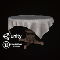 Cloth Covered Table - PBR Game Ready