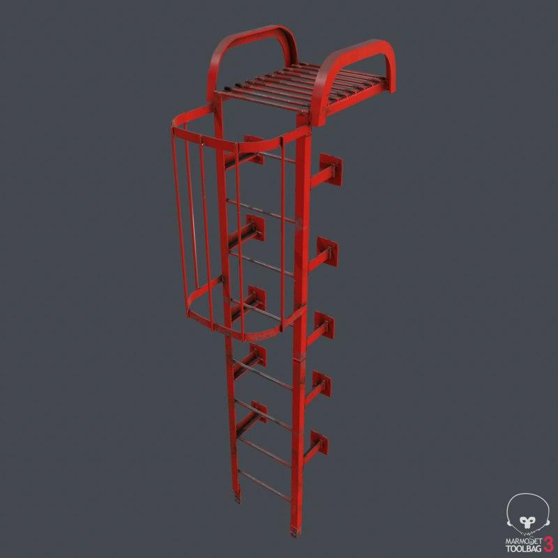 ladder metal 3D model