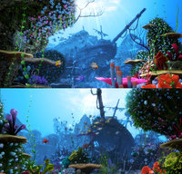 3D cartoon underwater scene animation model