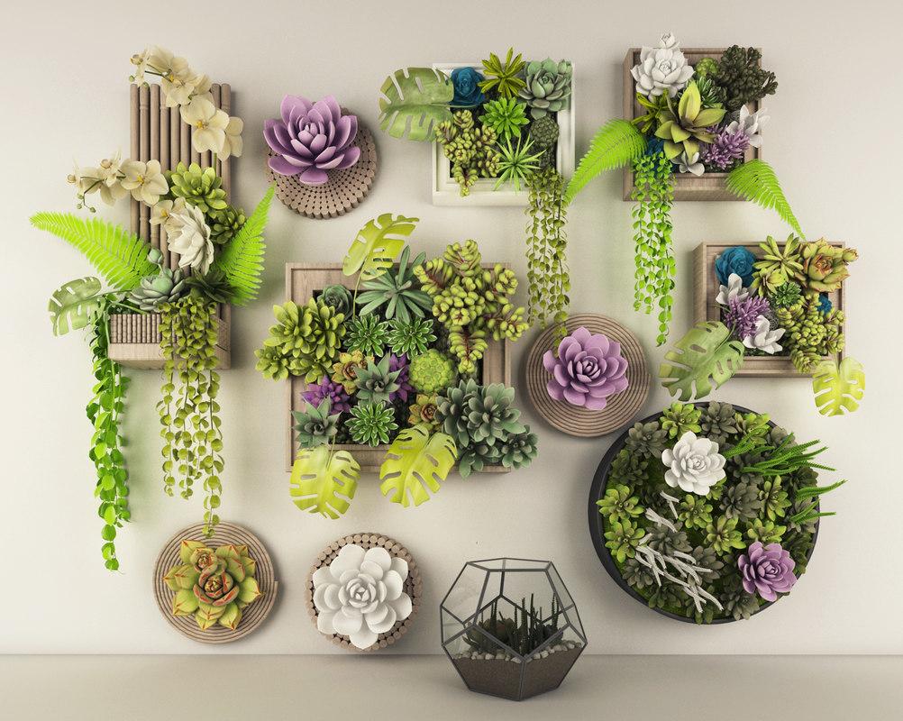 3D decoration set plant