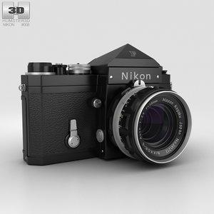 3D model nikon f black