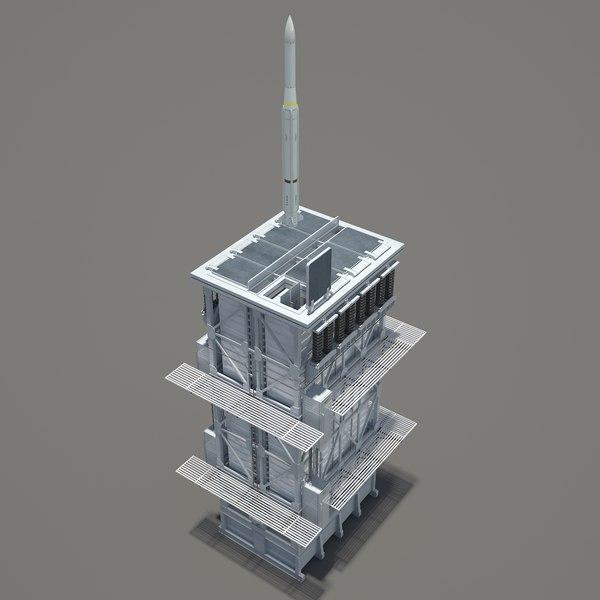 RIM-162 ESSMミサイル+マーク41(VLS)3Dモデル - TurboSquid 1214283