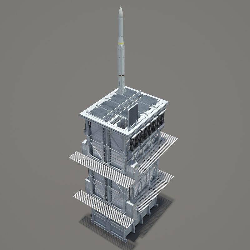 3D rim-162 essm missile mark-41