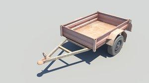 rusty trailer 3D model