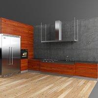 loft kitchen set model
