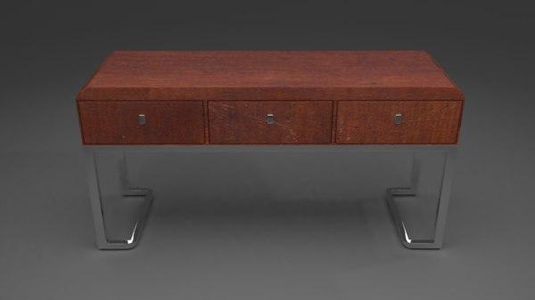 modern desk old table 3D model