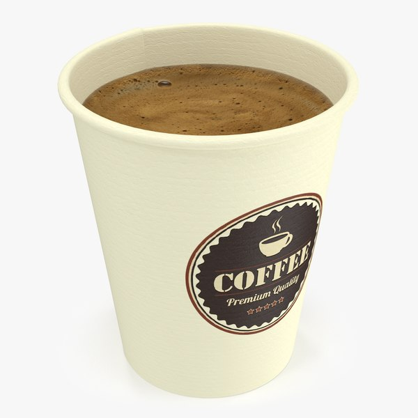 3D model paper coffee cup