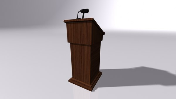 3D podium microphone model