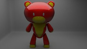 3D petite bear guy