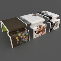 3D youth coffee table set