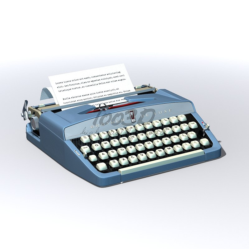 typewriter keys 3D model