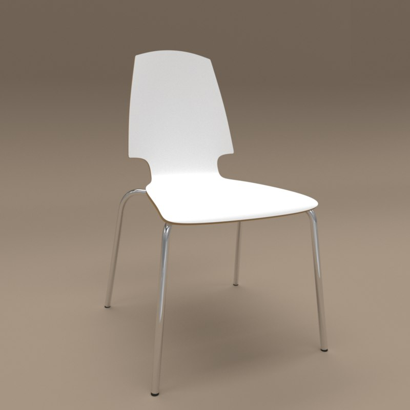 Chair Ikea Vilmar White 3D Model