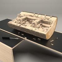 hotel wood 3D model