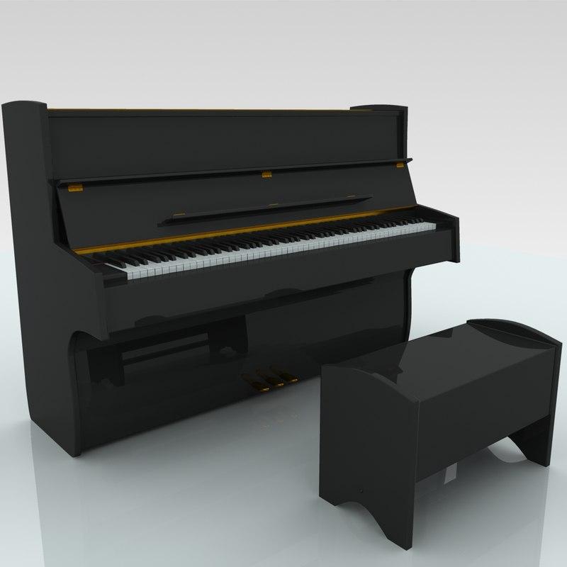 3D piano keys