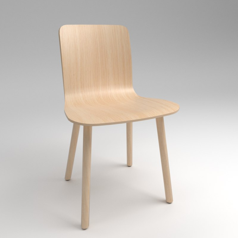 3D chair vitra hal ply