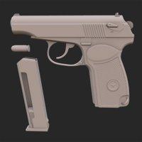 makarov pistol 3D