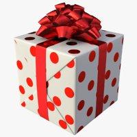 3D model realistic gift box 01