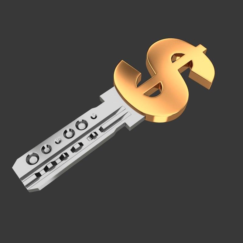 realistic key dollar model