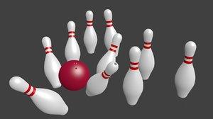 bowling set 3D model