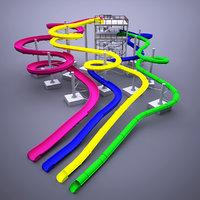 3D water slides model