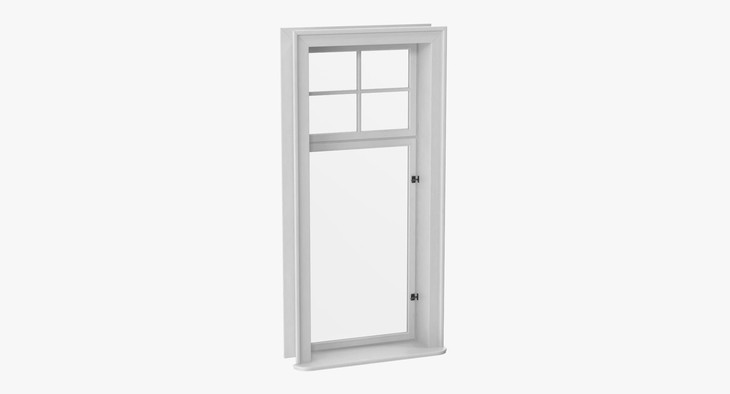 classic window 03 closed 3D