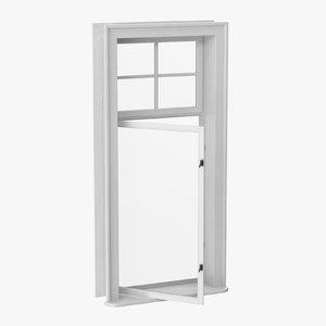 3D classic window 03 half