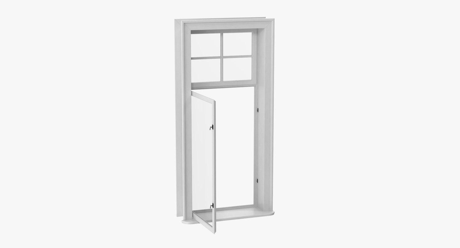 classic window 03 open 3D model