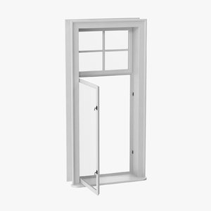 classic window 03 open 3D model