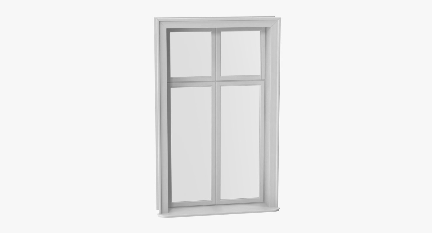 classic window 04 closed 3D