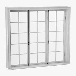 classic window 05 closed 3D model