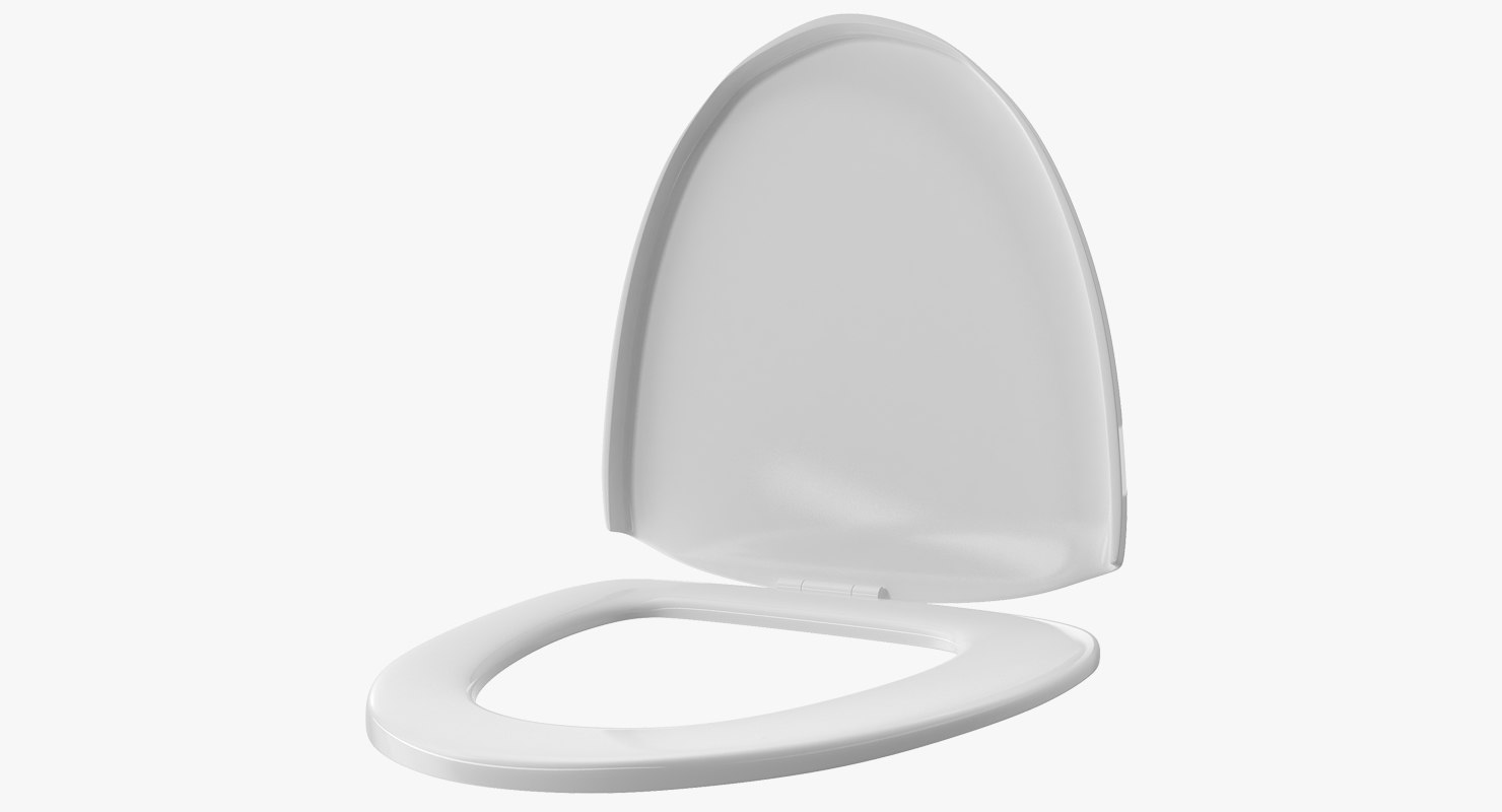 Pleasing Closed Toilet Seat 3D Model Theyellowbook Wood Chair Design Ideas Theyellowbookinfo