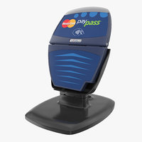 3D contactless credit card reader model