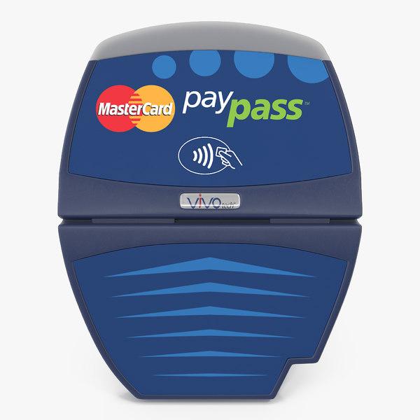 3D contactless credit card reader