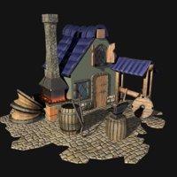 medieval forge model