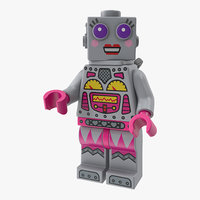 Lego Lady Robot Minifigure 3D Model