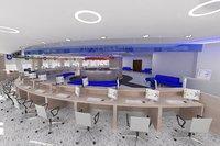 cash desk 3D