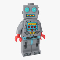 lego robot minifigure model