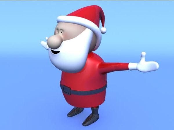 santa rigged 3D model