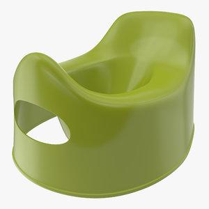 3D model plastic baby toilet