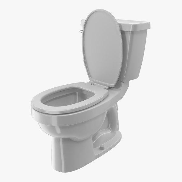 toilet classic white 3D model