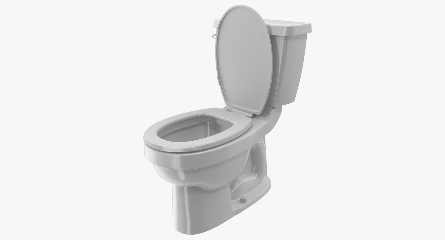 toilet classic white 3D model