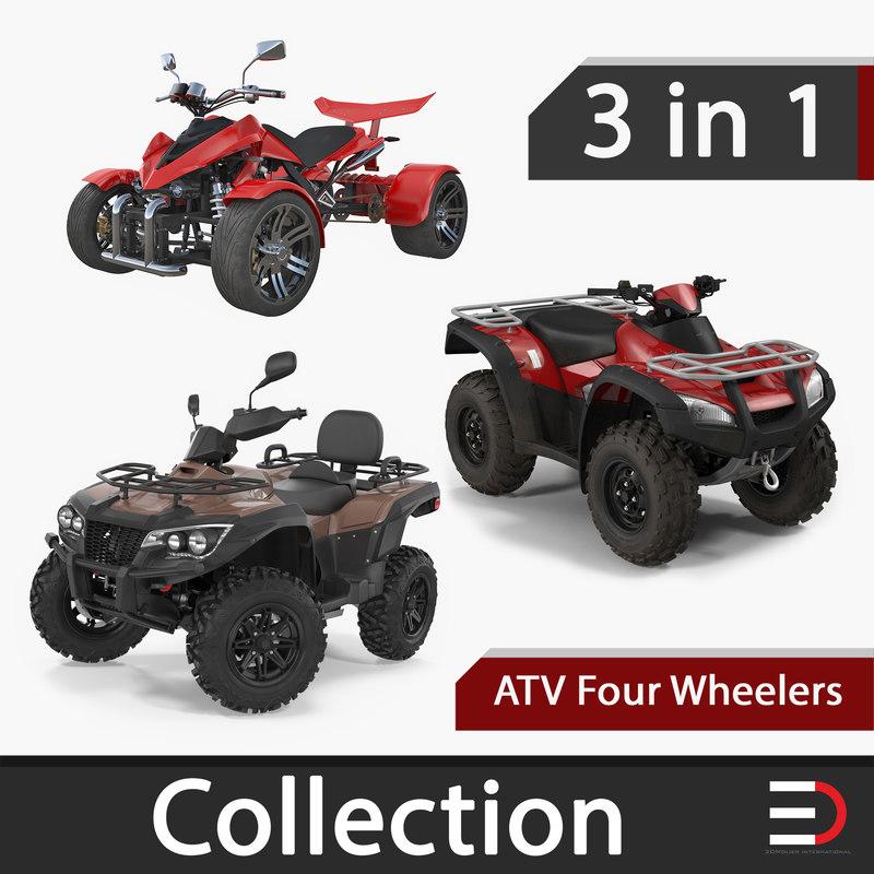 atv wheelers 3D model
