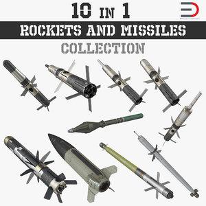 rockets missiles 3D