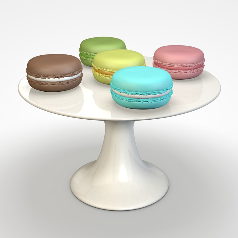 3D model macarons