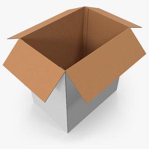 3D realistic cardboard box