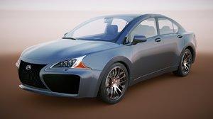 generic sedan v10 3D model