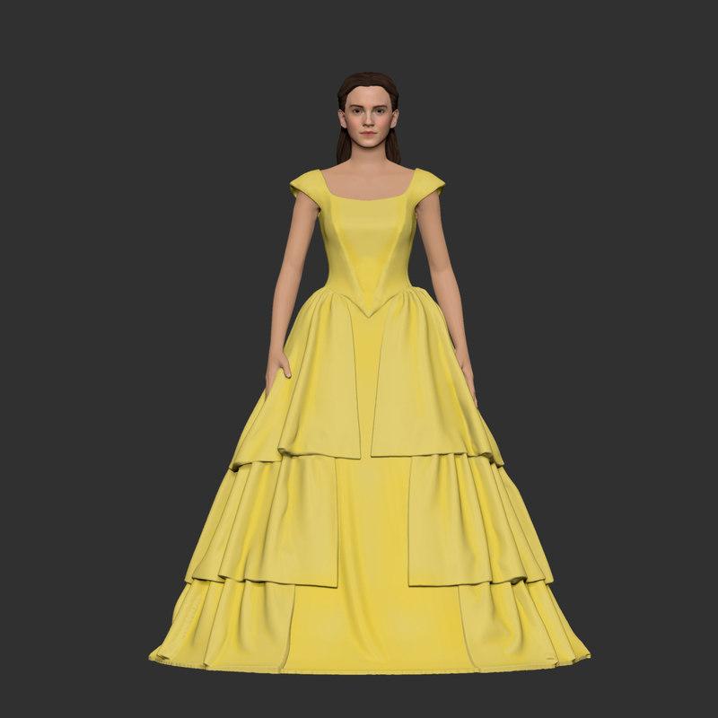 girl dress 3D model