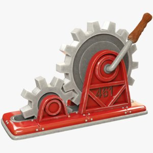 3D lever mechanism gears