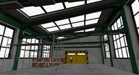 3D warehouse interior exterior