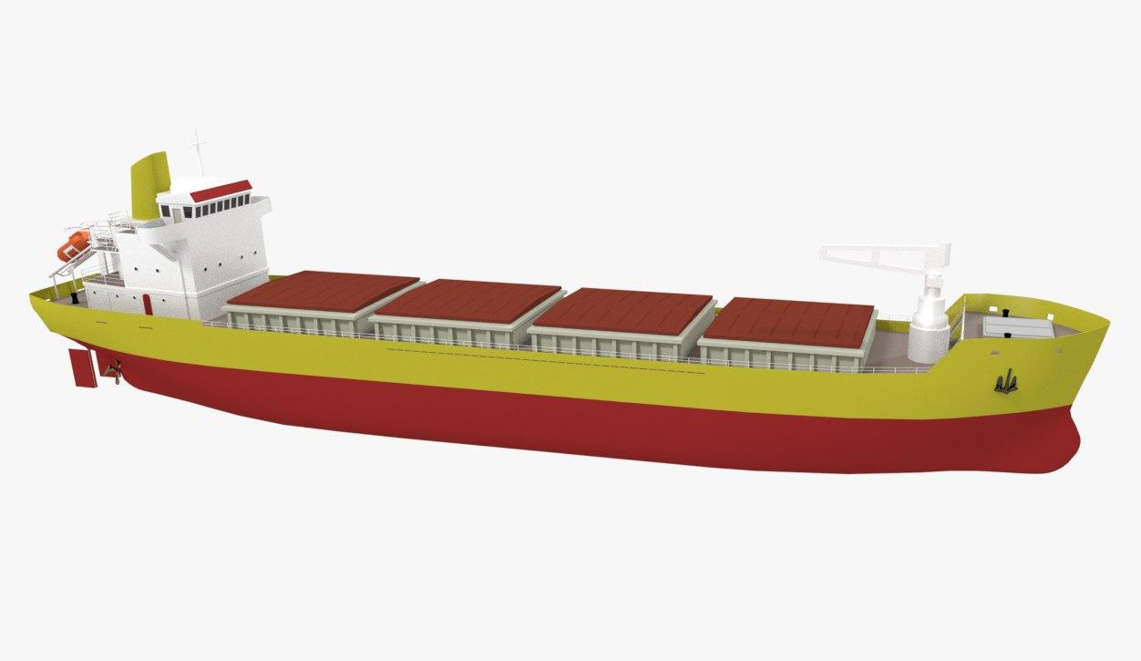 3D ship bulk model